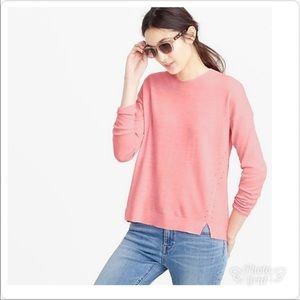 J. Crew Lightweight Salmon Pink Merino Cotton Tunic Sweater M